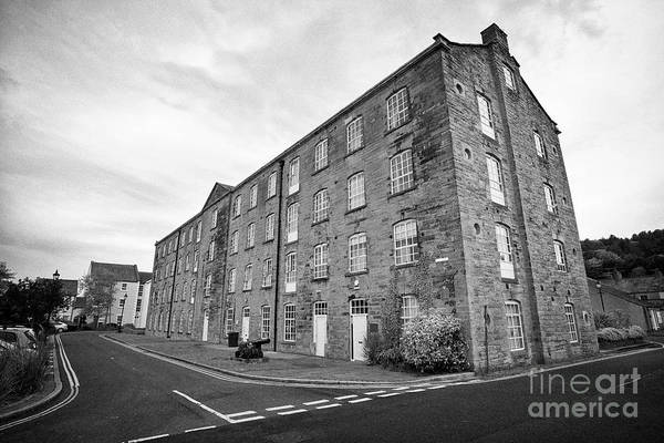 Wall Art - Photograph - Catherine Street Mill Former Flax Mill And Barracks Mill Whitehaven Cumbria England Uk by Joe Fox