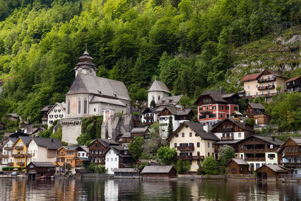 Wall Art - Photograph - Catholic Church Of Hallstatt Established 1181 by Bridget Calip