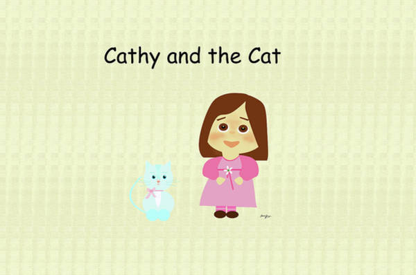 Digital Art - Cathy And The Cat by Laura Greco