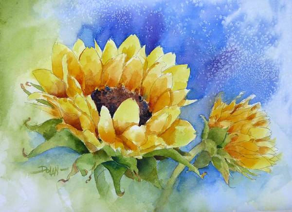 Painting - Cathy's Sunflower by Pat Dolan