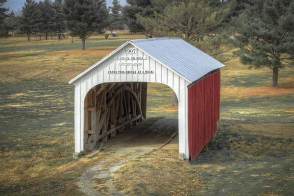 Photograph - Catlin Covered Bridge  by Jack R Perry
