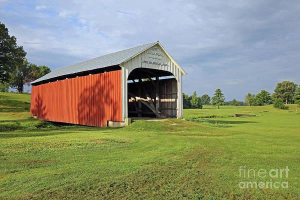 Rockville Photograph - Catlin Covered Bridge, Rockville, Indiana by Steve Gass