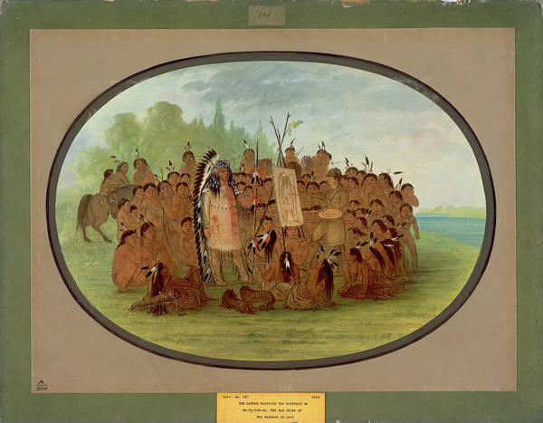 Painting - Catlin Painting The Portrait Of Mah-to-toh-pa-mandan by George Catlin