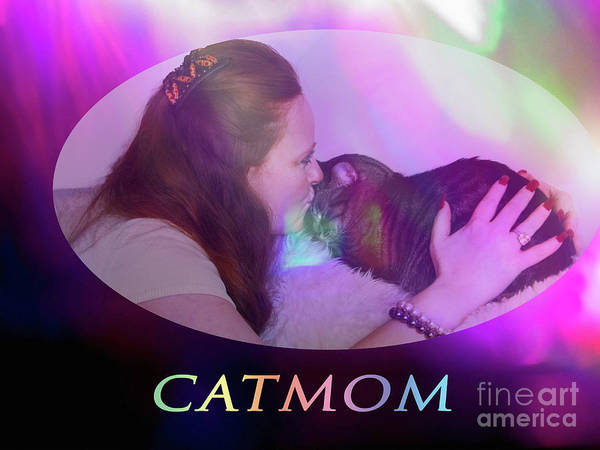 Digital Art - Catmom by Donna L Munro