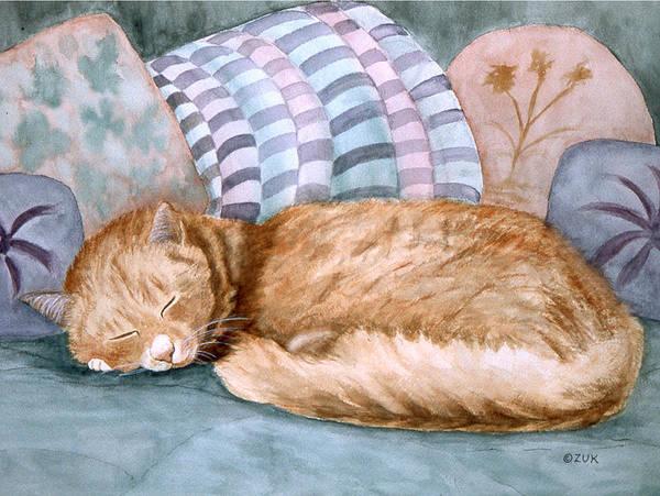 Painting - Catnap by Karen Zuk Rosenblatt
