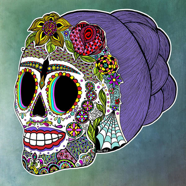 Wall Art - Digital Art - Catrina Sugar Skull by Tammy Wetzel