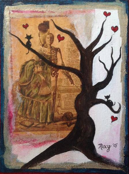 Tree Painting - Cats In Tree And Marie by Roxy Rich