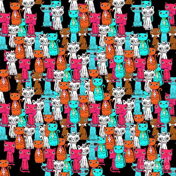 Cool Cat Digital Art - Cats  by Mark Ashkenazi