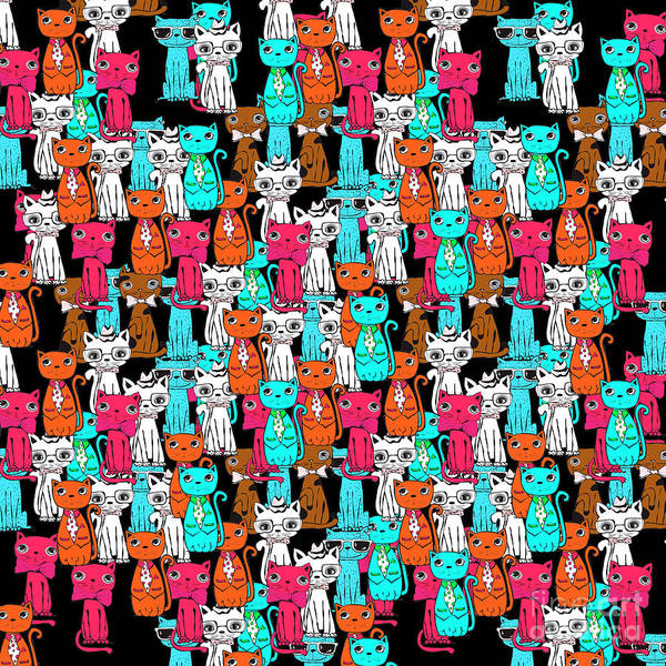 Wall Art - Digital Art - Cats  by Mark Ashkenazi