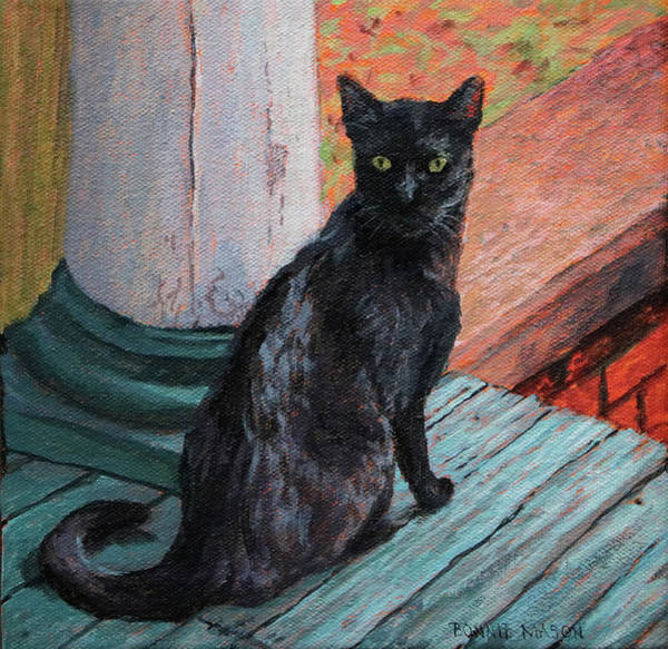 Porch Painting - Cat's Pause by Bonnie Mason