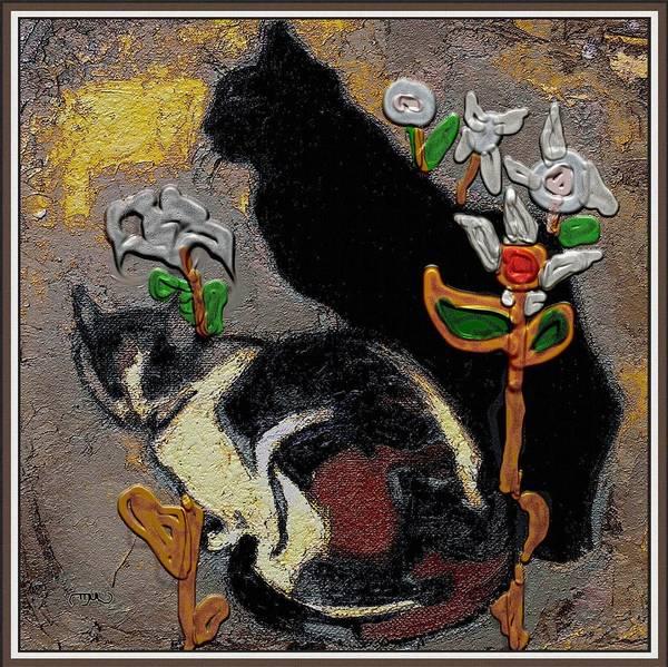 Wall Art - Mixed Media - Cats by Pemaro