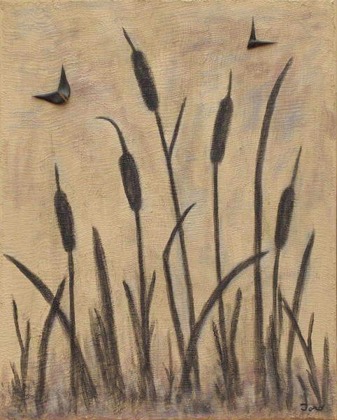 Painting - Cattails 2 by Trish Toro