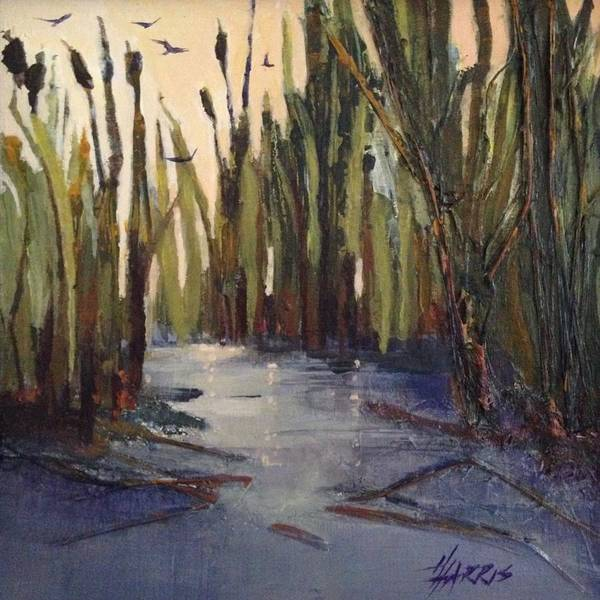 Painting - Cattails by Helen Harris