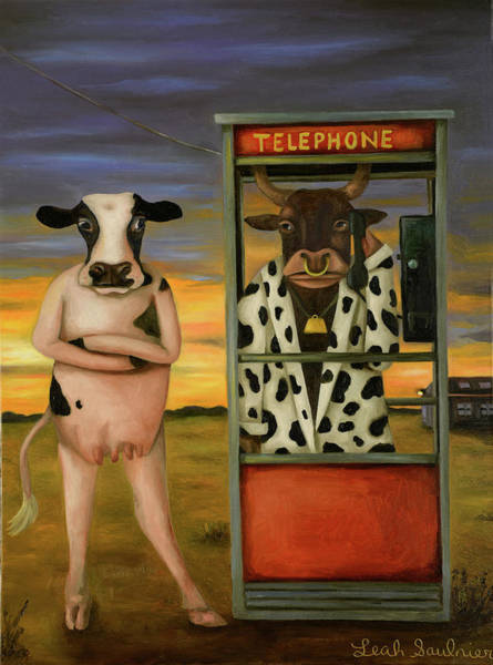 Painting - Cattle Call by Leah Saulnier The Painting Maniac