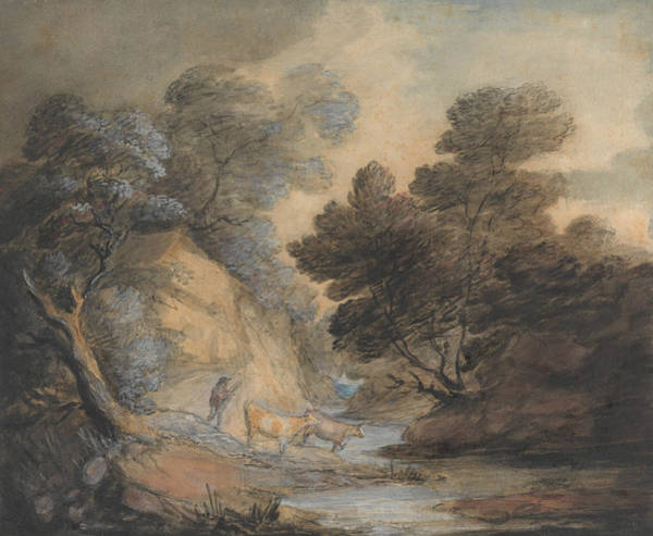 Painting - Cattle Watering By A Stream by Thomas Gainsborough