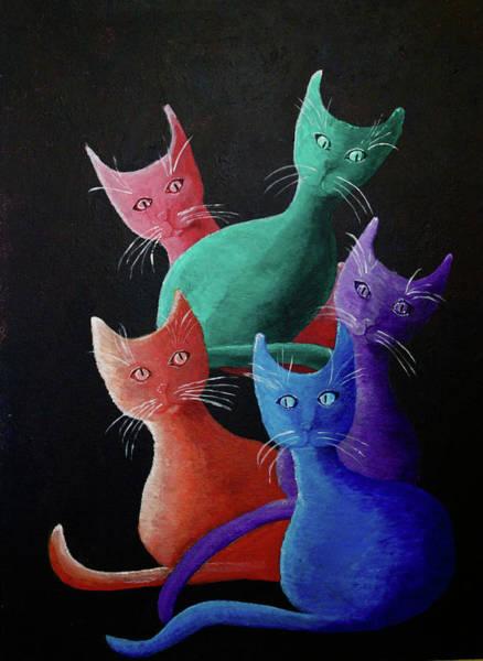 Painting - Catz Catz Catz by April Burton