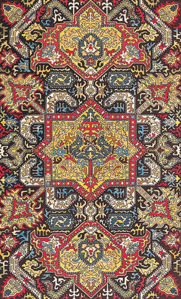 Tapestries Textiles Wall Art - Tapestry - Textile - Caucasian Silk Embroidery by Unknown