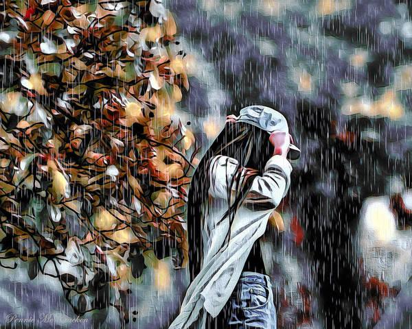 Digital Art - Caught In The Rain by Pennie McCracken