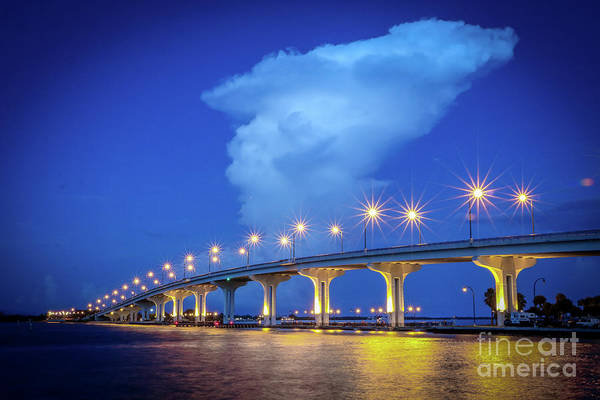 Photograph - Causeway And Cloud by Tom Claud