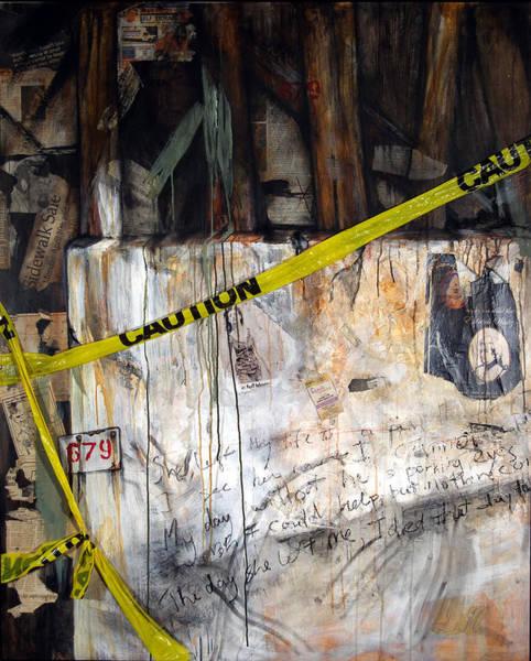 Wall Art - Painting - Caution by Leyla Munteanu