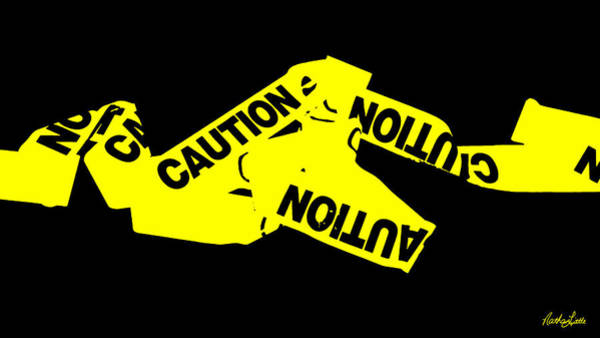 Photograph - Caution Tape by Nathan Little