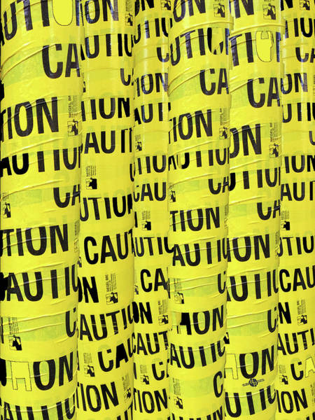 Photograph - Caution by Tony Rubino