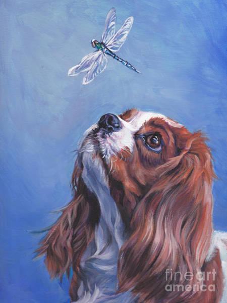 Spaniels Painting - Cavalier Curiosity by Lee Ann Shepard