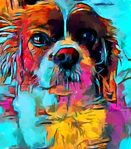 Field Spaniel Painting - Cavalier King Charles Spaniel 2 by Chris Butler