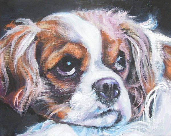 Spaniels Painting - Cavalier King Charles Spaniel Blenheim by Lee Ann Shepard
