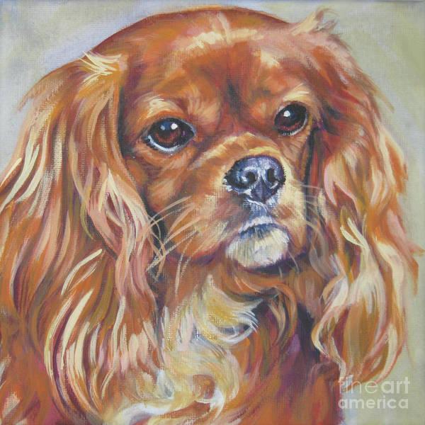 Ruby Wall Art - Painting - Cavalier King Charles Spaniel Ruby by Lee Ann Shepard