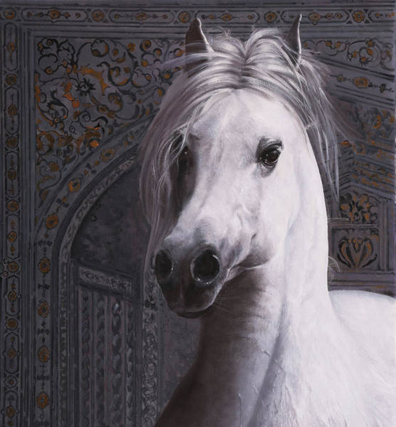 White Horse Painting - Cavallo Col Ciuffo by Guido Borelli