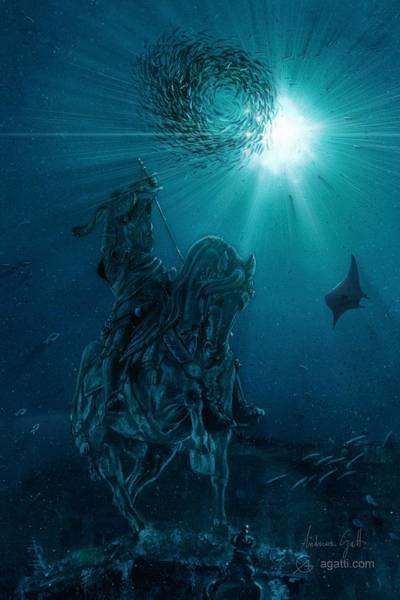 Ocean Scape Digital Art - Cavallo Di Bronzo by Andrea Gatti