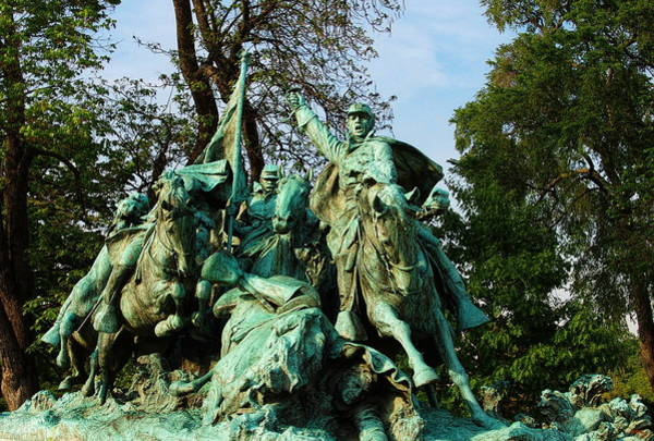 Cavalry Photograph - Cavalry Charge - Ulysses S. Grant Memorial by Glenn McCarthy