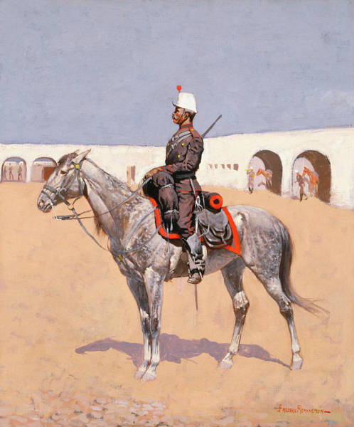 Wall Art - Painting - Cavalryman Of The Line, Mexico by Frederic Remington