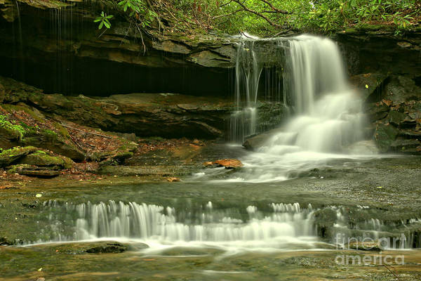 Cave Falls Gentle Cascades Art Print