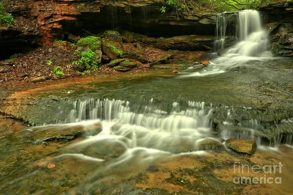 Cave Falls Landscape Art Print