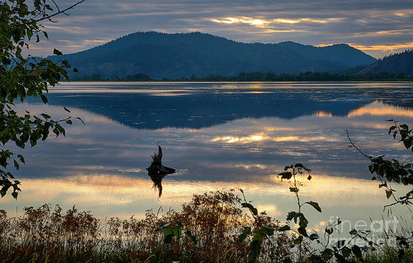 Wall Art - Photograph - Cave Lake Sunset by Idaho Scenic Images Linda Lantzy