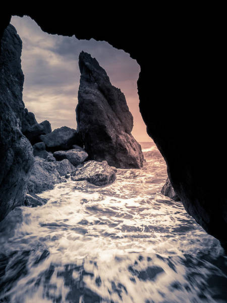 Photograph - Cave Opening Along Pacific Coast by Dan Sproul