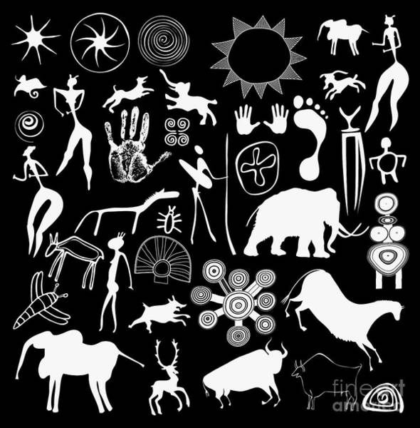 Wall Art - Digital Art - Cave Paintings - Aboriginal Art by Michal Boubin