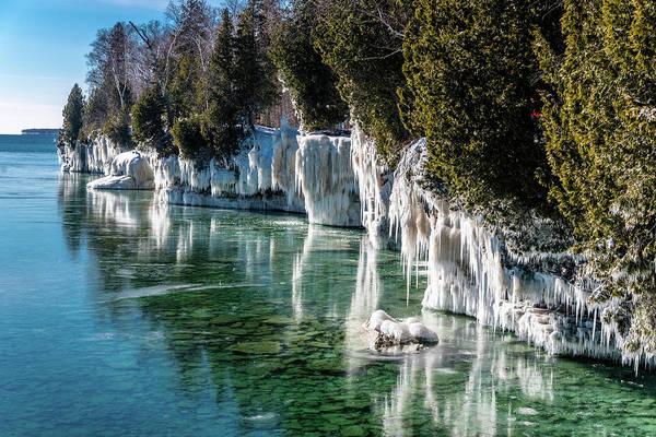 Photograph - Cave Point County Park by Randy Scherkenbach