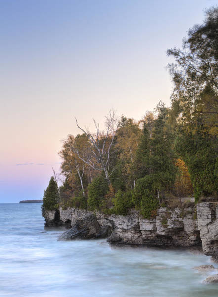 Cave Point  Art Print by Richard Steinberger