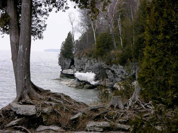 Photograph - Cave Point Wisconsin by Keith Stokes