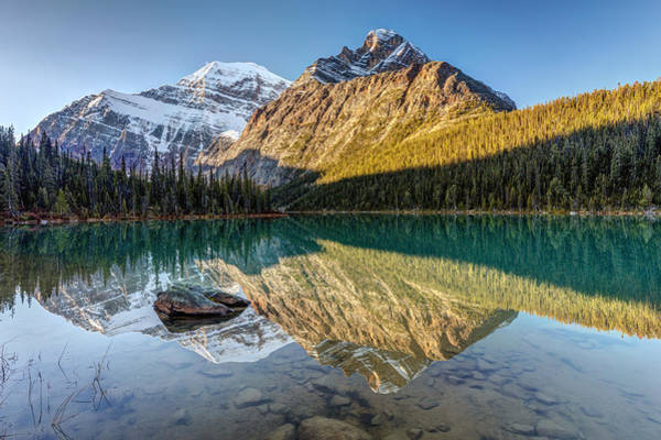 Photograph - Cavell Lake Reflection by Pierre Leclerc Photography