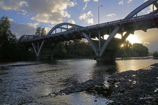 Rogue Valley Photograph - Caveman Bridge At Sunset by Mick Anderson