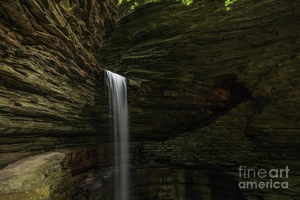Watkins Glen Photograph - Cavern Cascade Waterfall  by Michael Ver Sprill