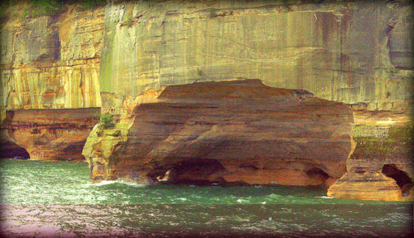 Photograph - Caves At Pictured Rocks by Jeff Kurtz