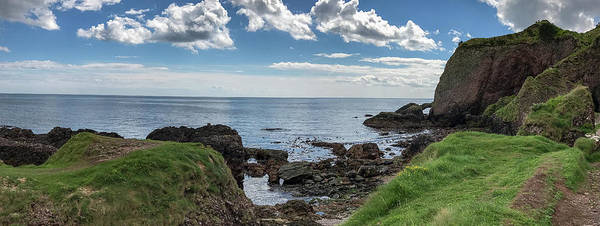 Photograph - Caves Of Cushendun Panorama by Teresa Wilson