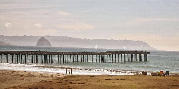 Morro Bay Digital Art - Caycous Pier II by Sharon Foster