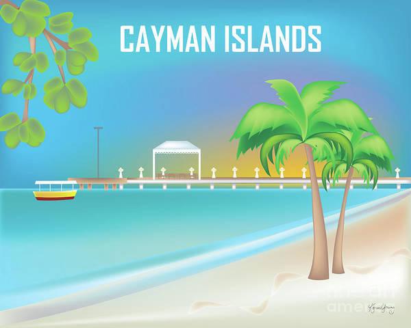 Wall Art - Digital Art - Cayman Islands Horizontal Scene by Karen Young
