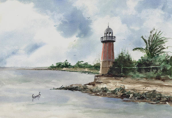 Painting - Cayman Lighthouse by Sam Sidders